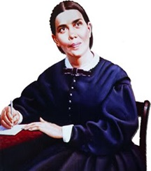 Ellen G. White, a woman everyone thought was a prophet even though her visions were due to a head injury. Yeah, that'd *totally* go over today...