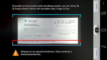 Screenshot of Ingreso de cheques