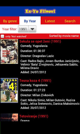 ex-yu-filmovi for android screenshot