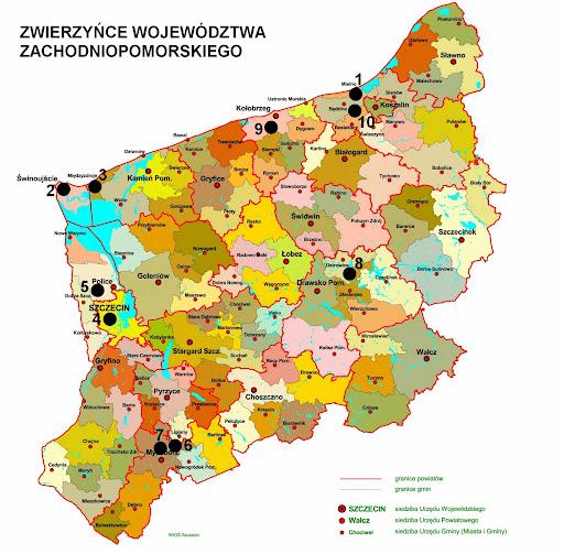 Zwierzyńce województwa zachodniopomorskiego