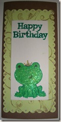Happy Birthday - Frog