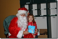 addy with santa