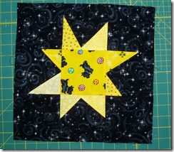 black yellow wonky star