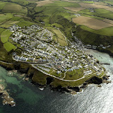 Port Isaac and Port Gavern from the air