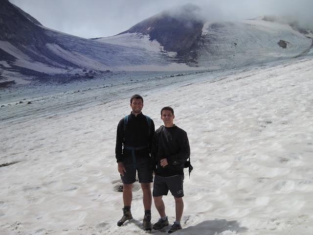 Camminando sopra un ghiacciaio