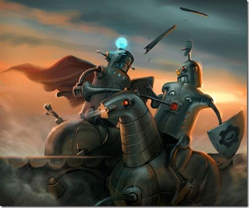 Robots_ritters_by_Waldemar_Kazak
