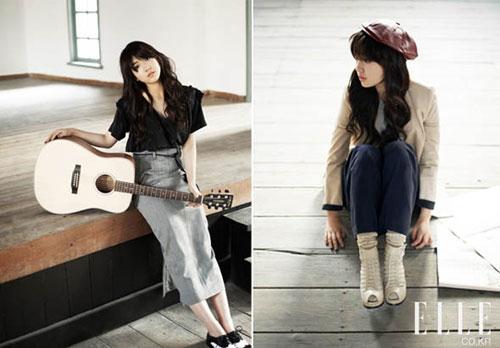 Park Shin Hye ถ่ายแบบให้นิตยสาร Elle