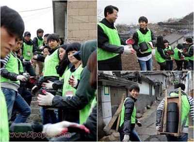 Lee Seung Gi เป็นอาสาสมัครส่งความอบอุ่นไปให้ผู้คน
