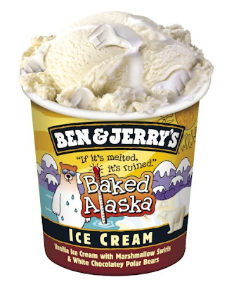 A big tub of Ben & Jerry's Baked Alaska