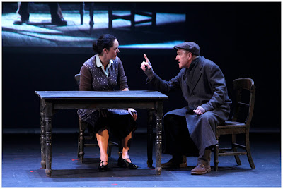 Derbhle Crotty and Eamon Morrissey in a scene from Sive by John B. Keane. Photo by Colm Hogan.
