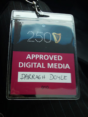 "Lanyard for Guinness 250 event with ""Approved Digital Media"" on it"