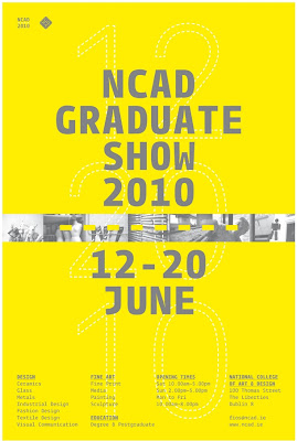 poster for NCAD Graduate Show 2010 12-20 June