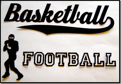 Basketball Football Laptop decals