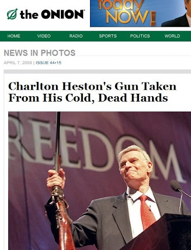 Charlton Heston My Cold DEAD Hands NRA Speech