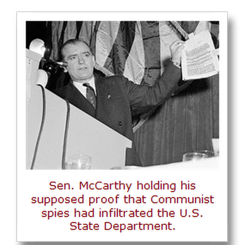 "The dual anniversary of Joe McCarthy's ""Red Scare"" and Jerry Falwell's ""Purple Scare""…"