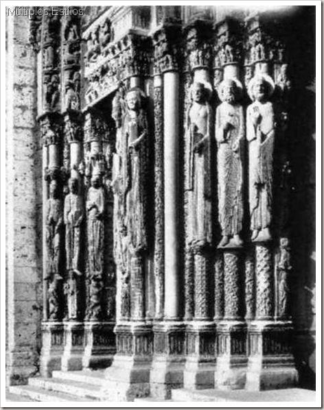 imagem umbral, ou de jamba Porta Real, Catedral de Chartres