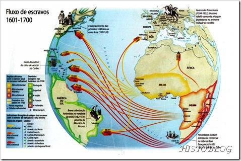 Fluxo de escravos 1601-1700
