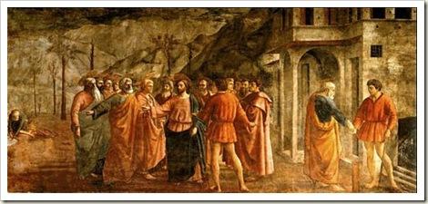 quadro O dinheiro do Tributo, de Masaccio
