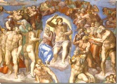 O juízo Final, Michelangelo , 1541 - Capela Sistina, Vaticano, Roma