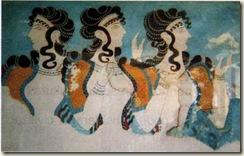 Afresco do interior do palácio de Cnossos (Período Cretense)