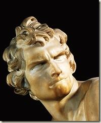 Davi, Bernini, detalhe