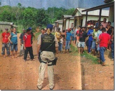 Trabalhadores rurais, em regime de escravidão libertados pela polícia, 2008