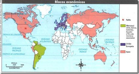 Mapa Blocos Econômicos