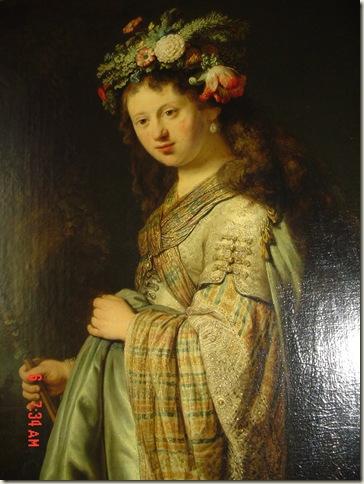 Flora, Rembrandt, óleo sobre tela, 1634, 1ª fase da carreira