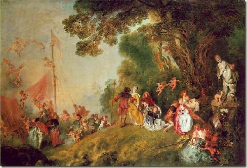 Peregrinação a Citera, Watteau, 1717