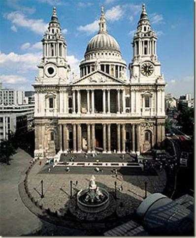 Catedral de São Paulo, fachada oeste, Wren (1675-1712), Londres