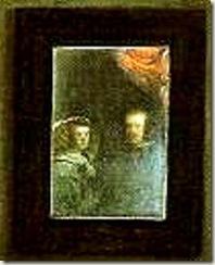 detalhe, Felipe IV e Mariana da Áustria.