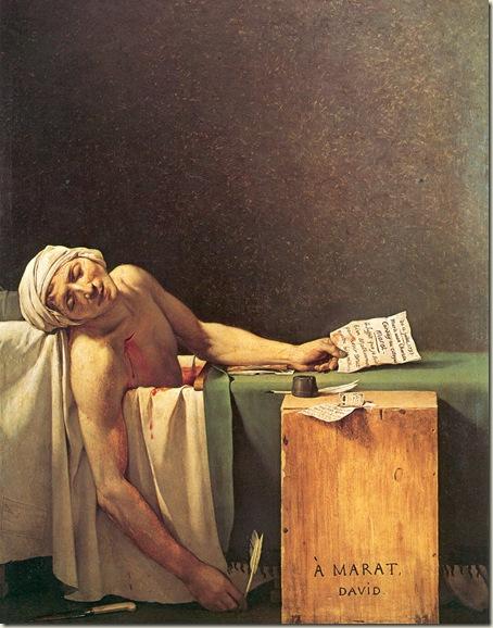 Morte de Marat, David, 1793