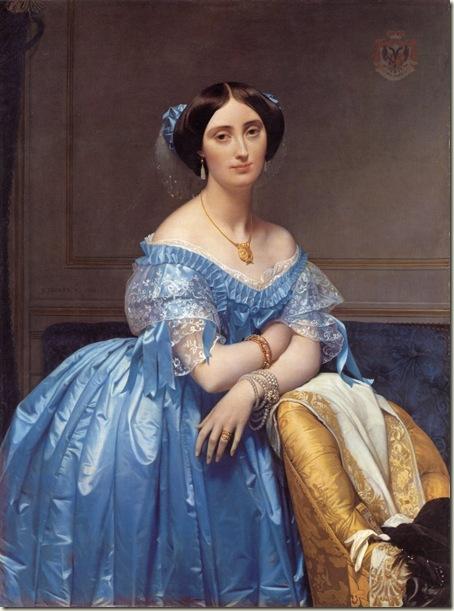 Retrato da Princesa de Broglie, Ingres, 1853