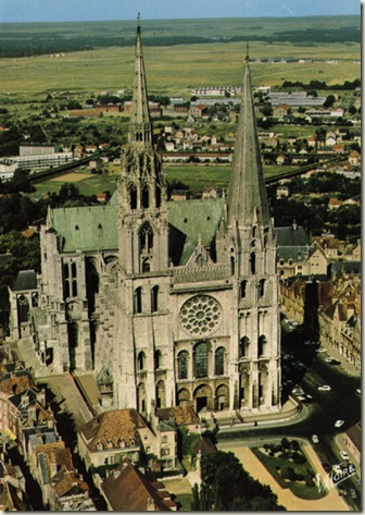 Catedral  de Chartres, França, estilo gótico, século XII