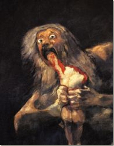 Saturno Devorando Seus Filhos,  Francisco de Goya