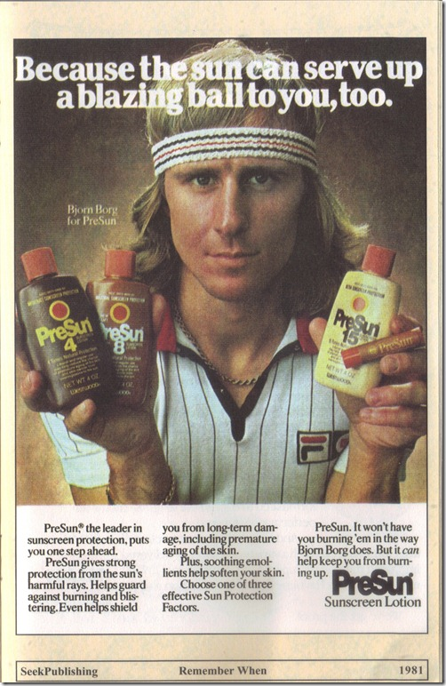 1981 PreSun Sunscreen Lotion Print Ad