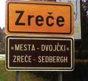 Zreče town sign