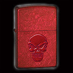 Zippo Doom Stamped Candy Apple Red