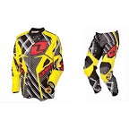 Motocross Jersey & Pant One Industries Carbon Circuit Board Yellow
