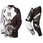 Motocross Jersey & Pant One Industries Defcon Carey Hart Vegas Black White