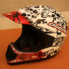 Motocross Helmet Oneal Piston Red White