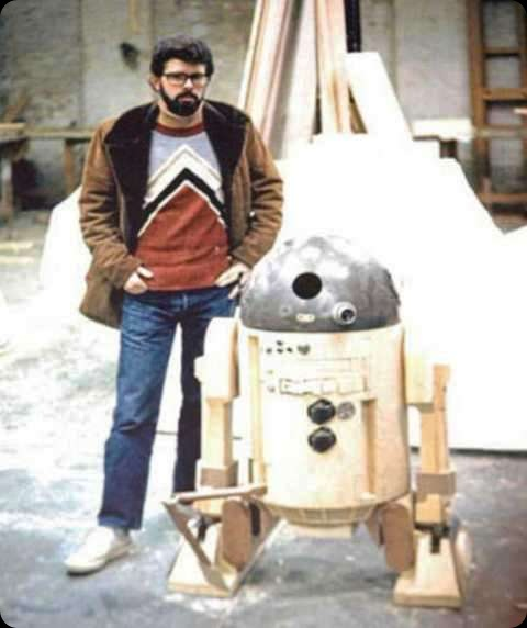 behind the scenes star wars episode iv R2D2 lucas