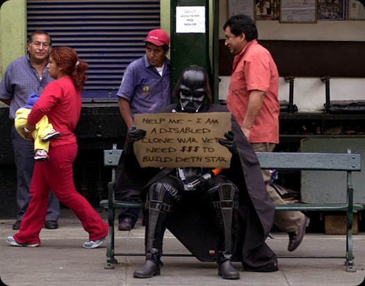 cool star wars photos homeless darth
