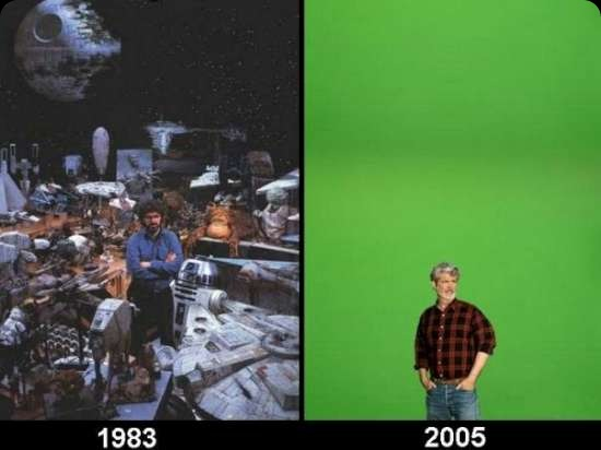 cool star wars photos george lucas 1983 2005
