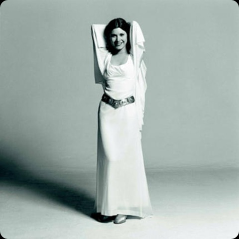 CARRIE FISHER behind the scenes star wars episode iv