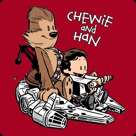 chewie and han star wars comic