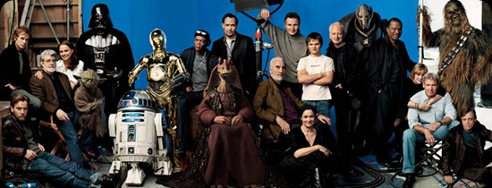 All the Star wars actors in one photo