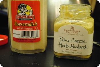 Horseradish and Blue Cheese Herb Mustard