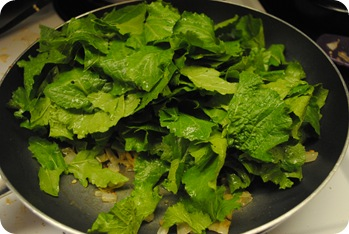 wilting turnip greens