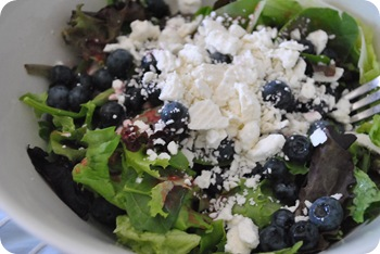 blueberry, feta, raspberry cabernet dressing